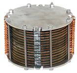 Menší prototyp článku HE3DA, dobře je vidět řazení jednotlivých elektrod